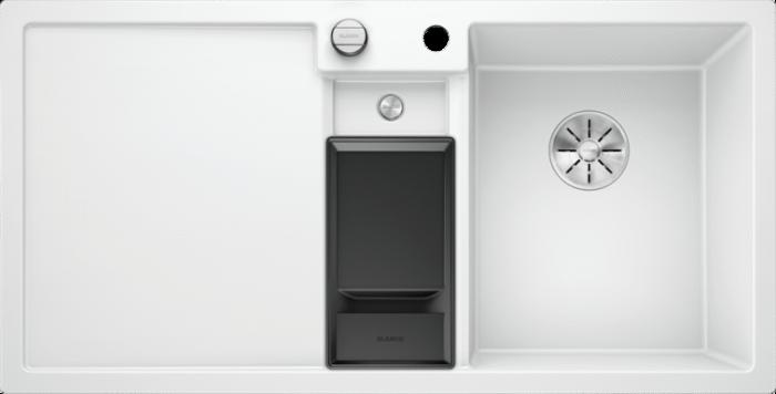 Chiuveta granit bucatarie Blanco COLLECTIS 6 S cu cos de sortare plastic cu capac [0]
