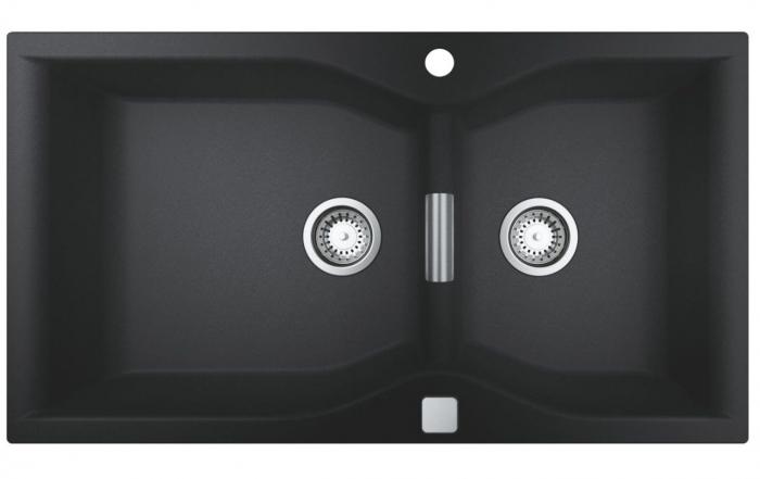 Chiuveta granit bucatarie Grohe K700, 90X50 cm, doua cuve cu excentric [3]