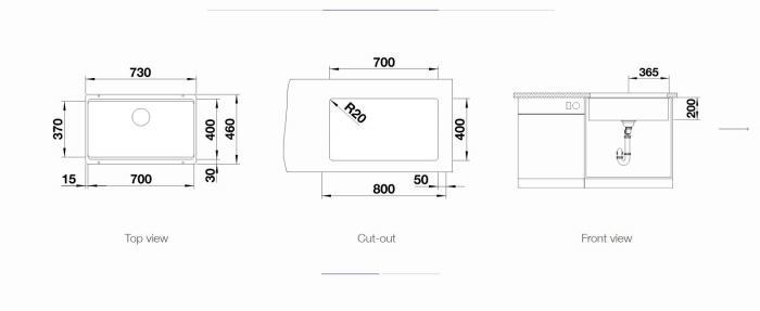 Chiuveta inox Blanco ETAGON 700-U InFino cu excentric [1]