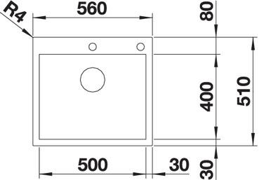 Chiuveta inox BLANCO ZEROX 500-IF/A Durinox®  cu pushcontrol [2]