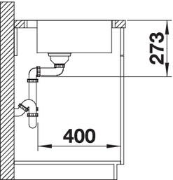 Chiuveta inox BLANCO ZEROX 500-IF/A Durinox®  cu pushcontrol [3]