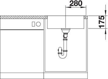 Chiuveta inox BLANCO ZEROX 500-IF/A Durinox®  cu pushcontrol [4]