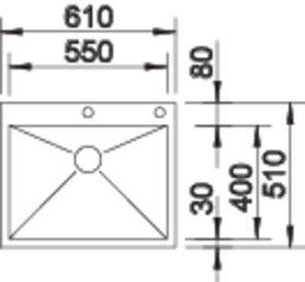 Chiuveta inox BLANCO ZEROX 550-IF/A Durinox® cu pushcontrol [2]
