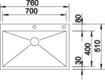 Chiuveta inox BLANCO ZEROX 700-IF/A Durinox® cu pushcontrol [2]