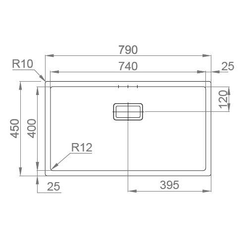 Chiuveta bucatarie inox CookingAid Box Lux 74 cu ventil scurgere dreptunghiular si accesorii montaj [11]
