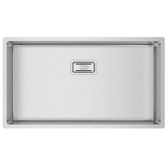 Chiuveta bucatarie inox CookingAid Box Lux 74 cu ventil scurgere dreptunghiular si accesorii montaj [2]