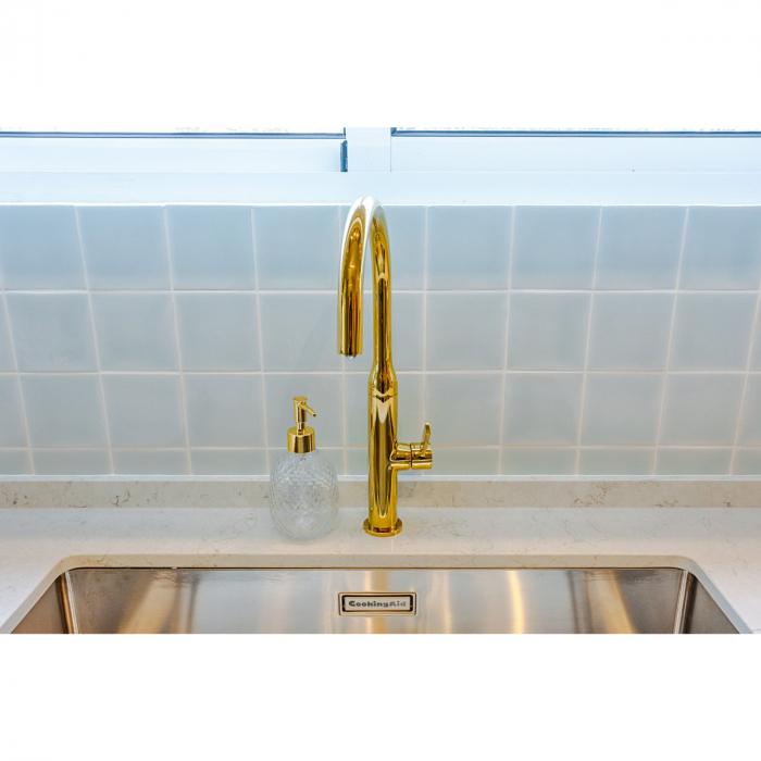 Chiuveta bucatarie inox CookingAid Box Lux 74 cu ventil scurgere dreptunghiular si accesorii montaj [4]