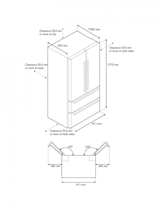 Combina frigorifica Bertazzoni neincorporabila 90 cm Inox design Neutral 5