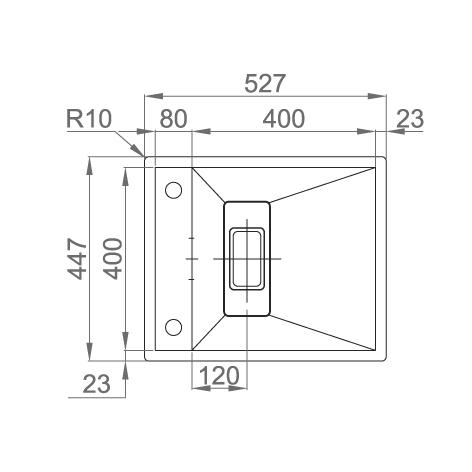 CookingAid Chiuveta bucatarie inox INVISIBLE 40R cu capac scurgere invizibil + accesorii montaj [14]