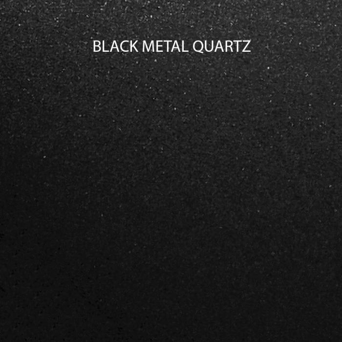 CookingAid Set chiuveta granit Kinga LX8620 Black Metal quartz cu baterie Indiana, tocatoare, tavita, scurgator si dozator [13]