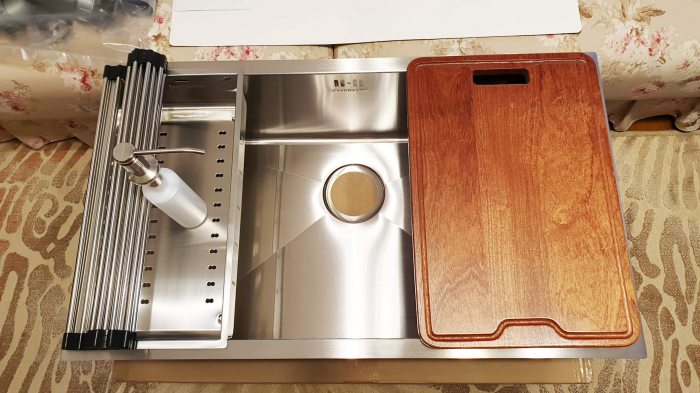 CookingAid Set complet chiuveta bucatarie inox  HERA LARGE + baterie Line MN 1011 [6]