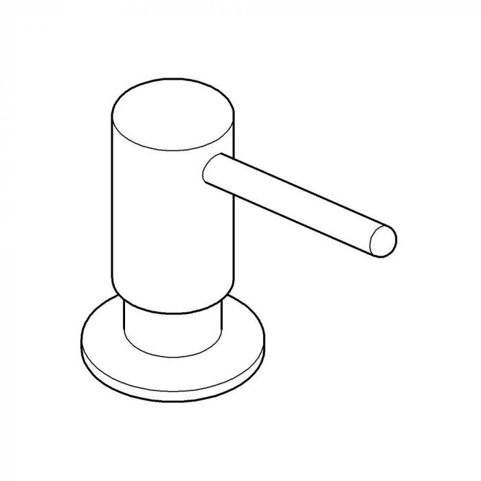 Dozator săpun Grohe gama Contemporary otel periat 1