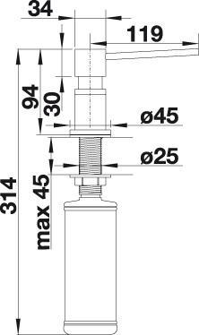 Dozator sapun lichid Blanco LATO [2]