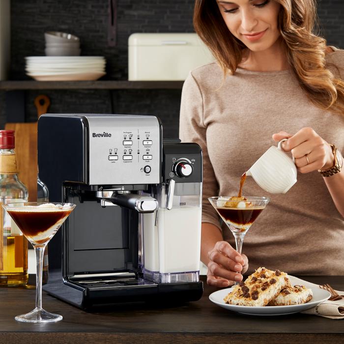 Espressor Manual cu Lapte Prima Latte II Silver Breville 14