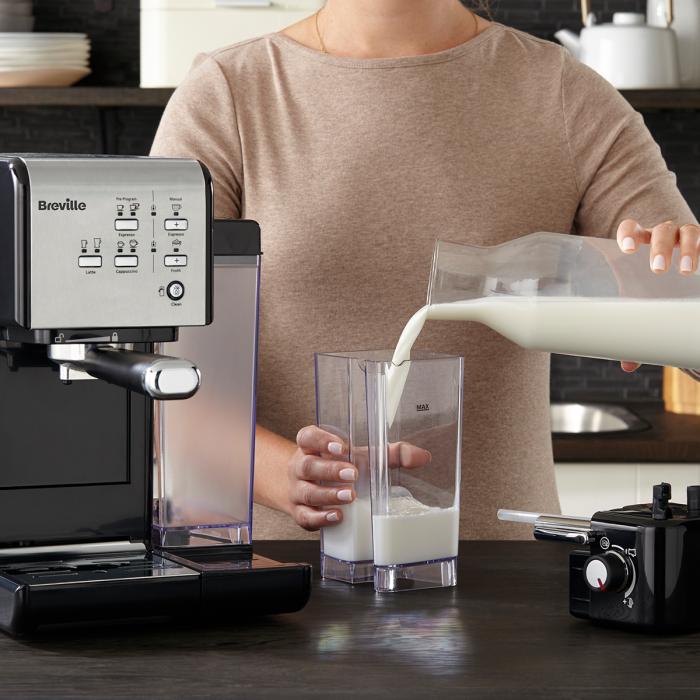 Espressor Manual cu Lapte Prima Latte II Silver Breville 10