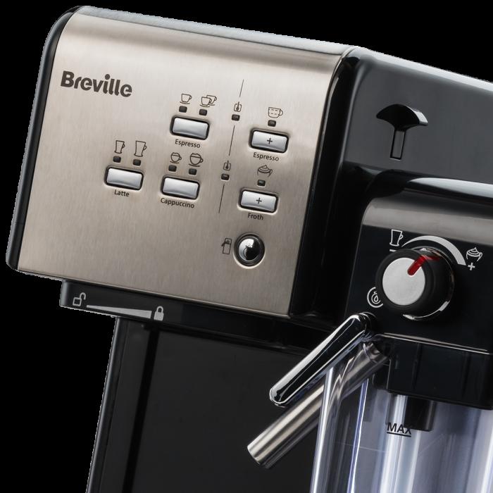Espressor Manual cu Lapte Prima Latte II Silver Breville 18