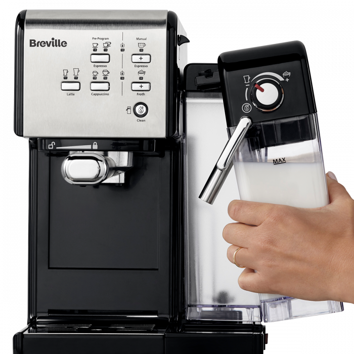 Espressor Manual cu Lapte Prima Latte II Silver Breville 9