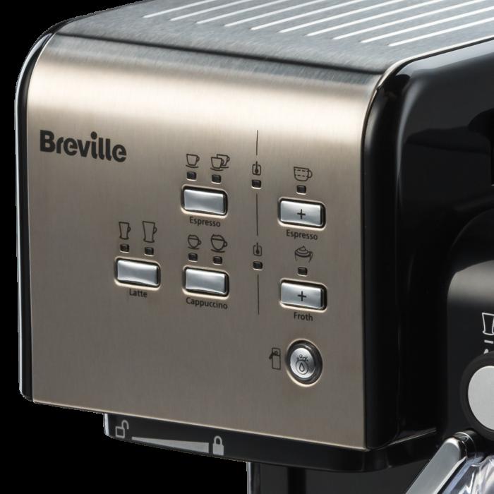 Espressor Manual cu Lapte Prima Latte II Silver Breville 19
