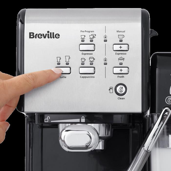 Espressor Manual cu Lapte Prima Latte II Silver Breville 7