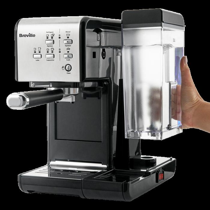Espressor Manual cu Lapte Prima Latte II Silver Breville 8