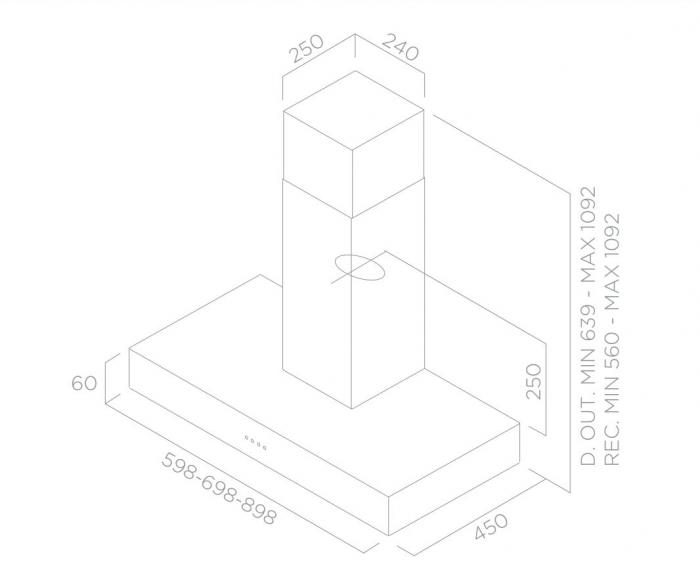 Hota inox de bucatarie TurboAir DIGITA 60-70-90 cm [1]