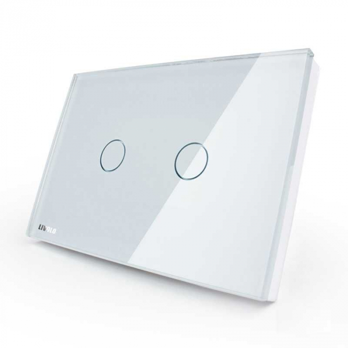 Intrerupator dublu cu touch Livolo standard italian wireless [0]