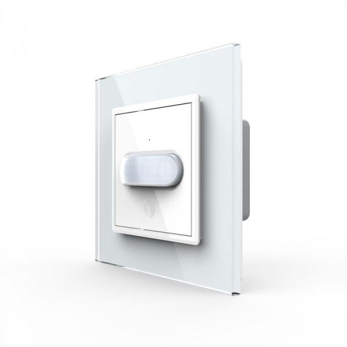 Intrerupator Livolo cu senzor de prezenta / miscare PIR, Zigbee, rama de sticla 0