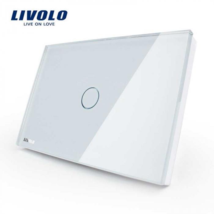 Intrerupator tactibil simplu Livolo din sticla – standard italian 0