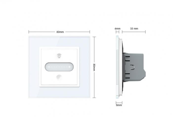Intrerupator tactil Livolo WiFi, Zigbee, cap scara / cruce, dimabil, intensitate lumina ajustabila 9