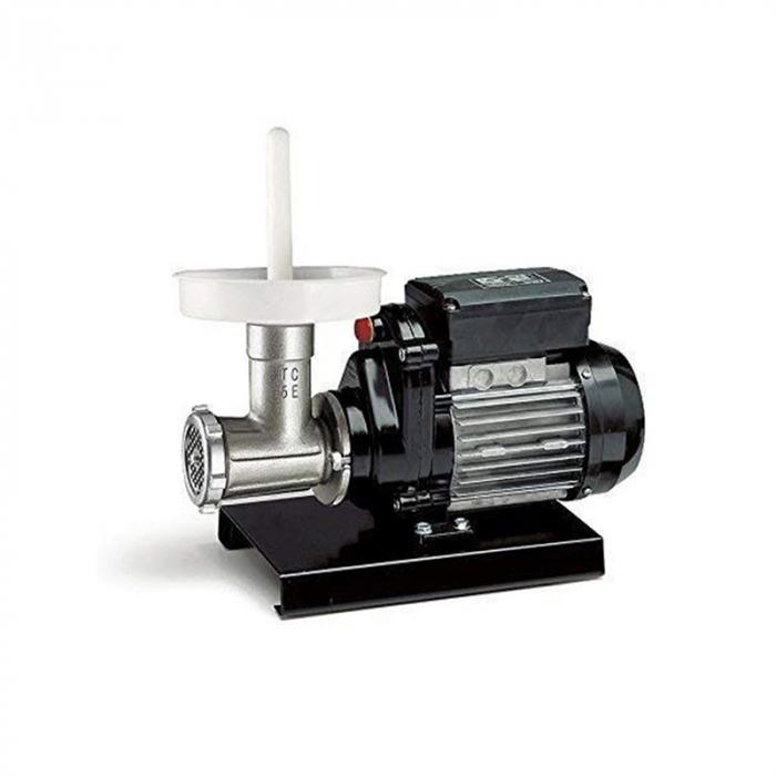 Mașină de tocat carne Reber 9502 N n.5, Putere 400W, Producție 30~50kg/h, Corp din fontă tratată, Găuri sită 6mm [4]