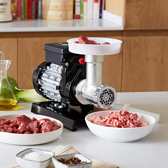 Mașină de tocat carne Reber 9502 N n.5, Putere 400W, Producție 30~50kg/h, Corp din fontă tratată, Găuri sită 6mm [2]