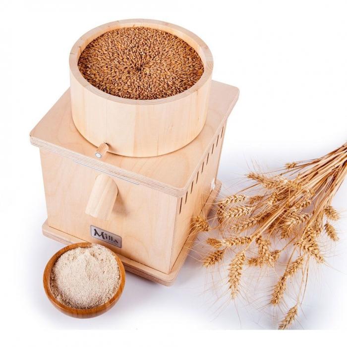 Moara de cereale Milla PRO uz rezidential sau comercial,motor 370w capacitate 900 gr [0]