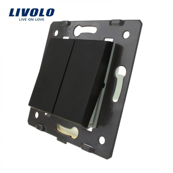 Modul intrerupator mecanic dublu, cap-scara, Livolo 0