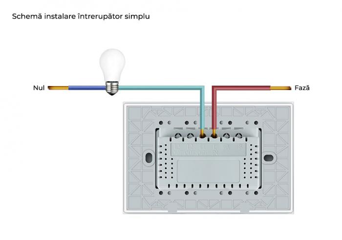 Modul intrerupator tactil simplu cap scara/cruce Livolo,standard italian [3]