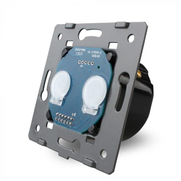 Modul intrerupator tactil dublu Livolo cap scara/cruce VL-C702S 0