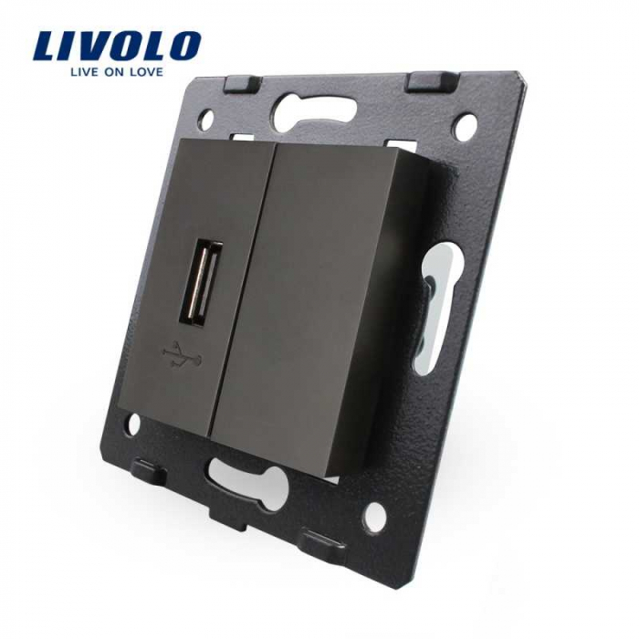 Modul Priza simpla USB Livolo VL-C7-1USB 0