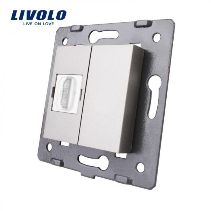 Modul priza media simpla HDMI Livolo VL-C7-1HD 0