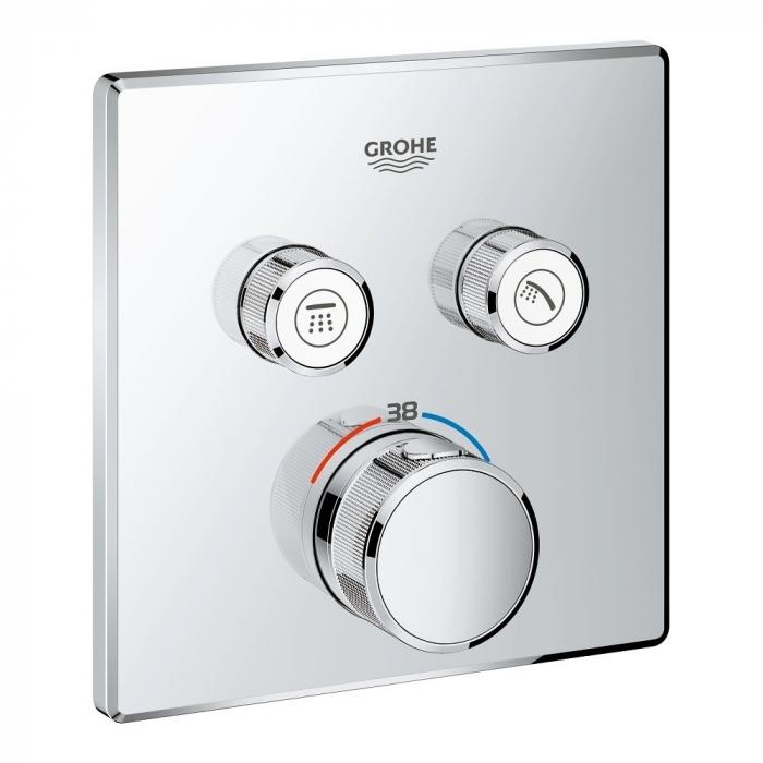 Ornament patrat Grohe Grohtherm SmartControl cu termostatat 2 valve 0