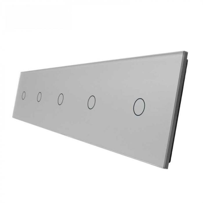 Panou intrerupător tactil 5 x simplu Livolo 0