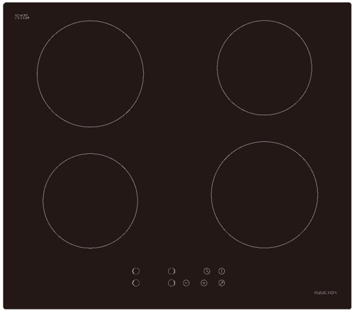 Plita inductie incorporabila marca Evido vitro 60 cm culoare neagra 0