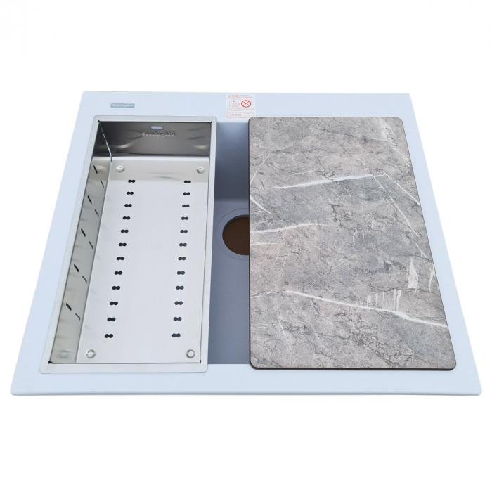 Scurgator INOX Tip Tavita Perforata pentru chiuveta 420*200*85mm sau 400*200*85mm [2]