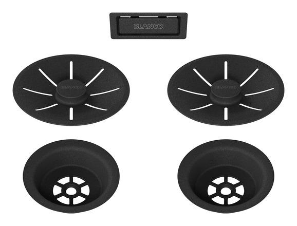 Set elemente de scurgere pentru chiuvete duble seria Black Edition [3]
