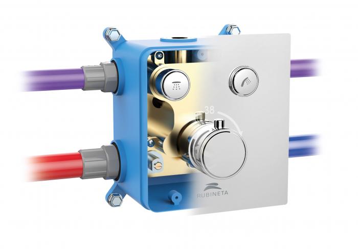 Sistem de dus incastrat Rubineta Thermo 2F OLO cu 2 functii baterie termostatica [11]
