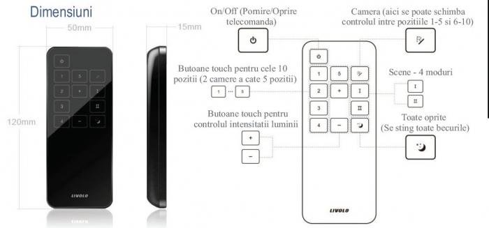 Telecomanda pentru intrerupatore wireless Livolo 2