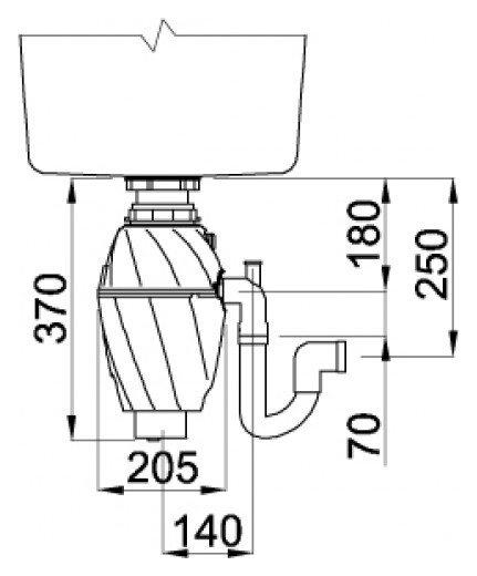 Tocator de resturi menajere cu actionare pneumatica 0.50 cp GreenPower 1