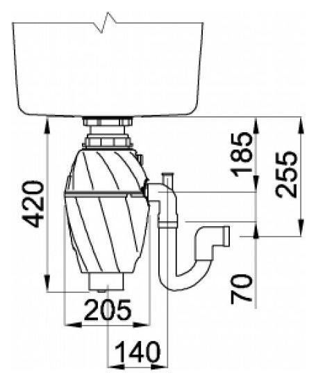 Tocator de resturi menajere cu actionare pneumatica 0.75 cp 1