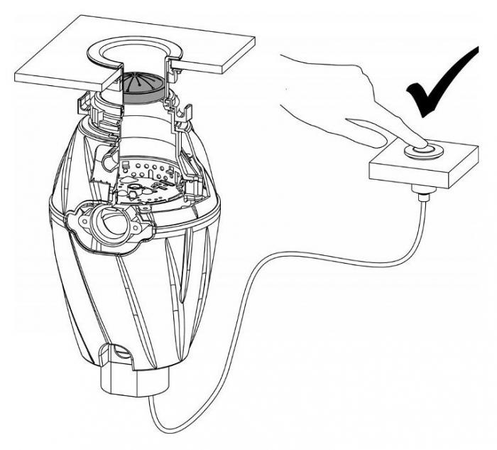 Tocator de resturi menajere cu actionare pneumatica 0.75 cp 2