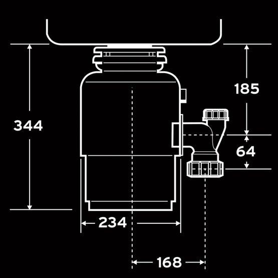 Tocator de resturi menajere cu actionare pneumatica Evolution 250 InSinkErator 0.75 CP [3]
