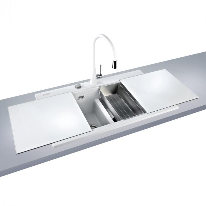 Tocator sticla Temperizata Alba pentru chiuveta CookingAid Kinga LX8620 White [0]