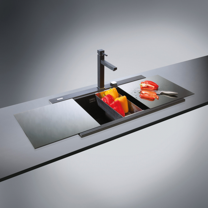 Tocator sticla Temperizata Neagra pentru chiuveta CookingAid Kinga LX8620 Black [3]